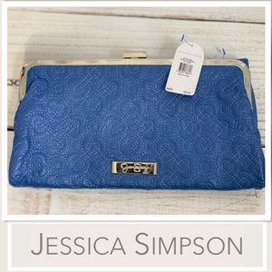 Jessica Simpson Periwinkle Fold-over  Clutch NWT